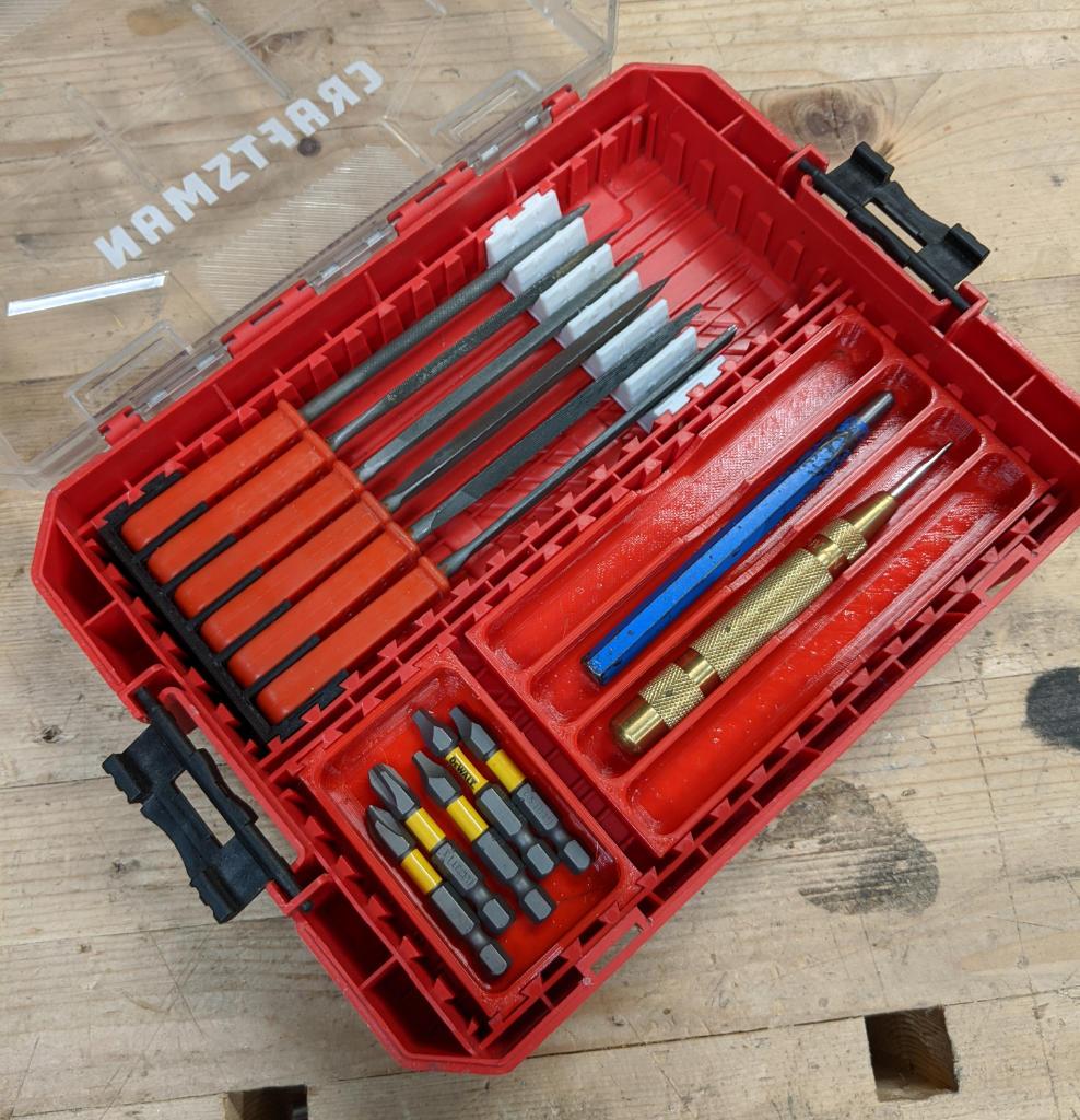 Dewalt ToughCase Small Parts Inserts In Medium Craftsman Case