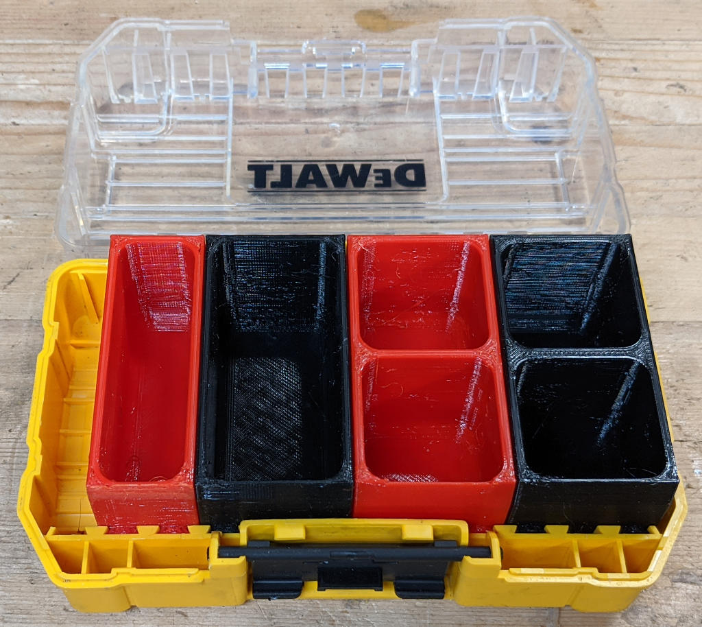 Dewalt ToughCase Small Parts Inserts in small ToughCase