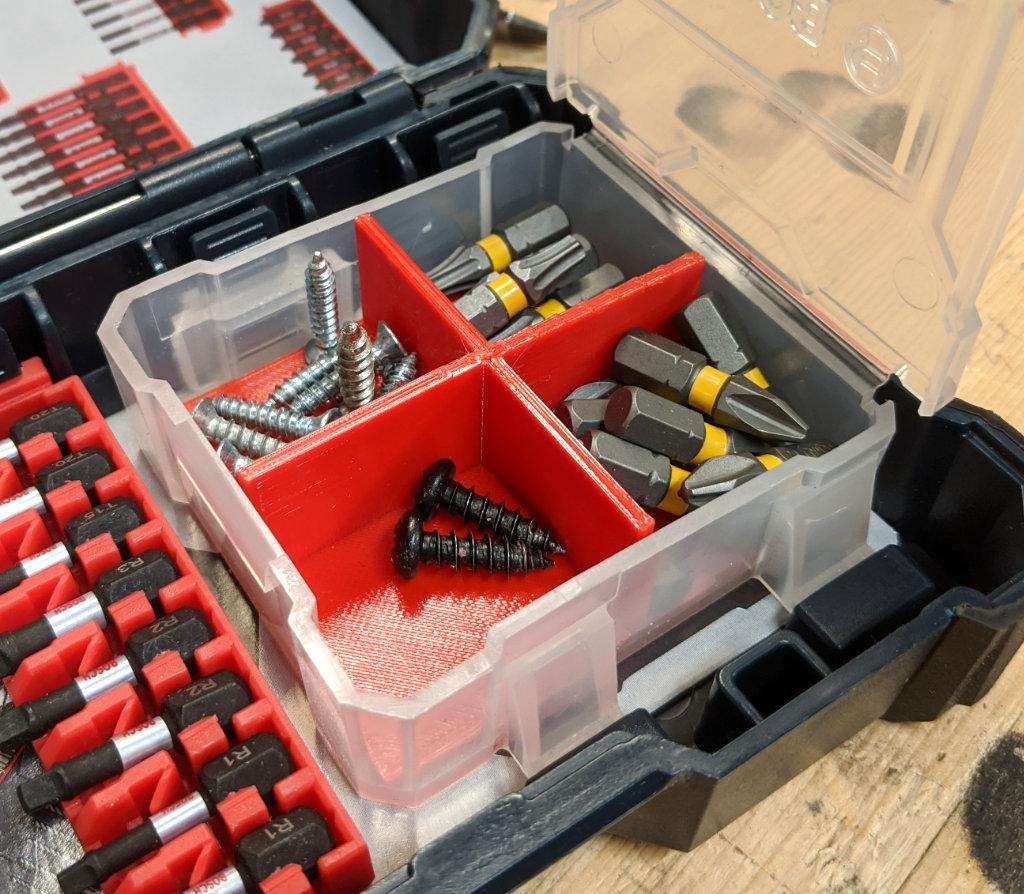 Bosch Custom Clear Case Cross Divider Open