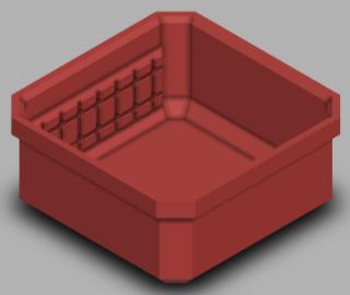 Slim Packout Square Bin Model 2