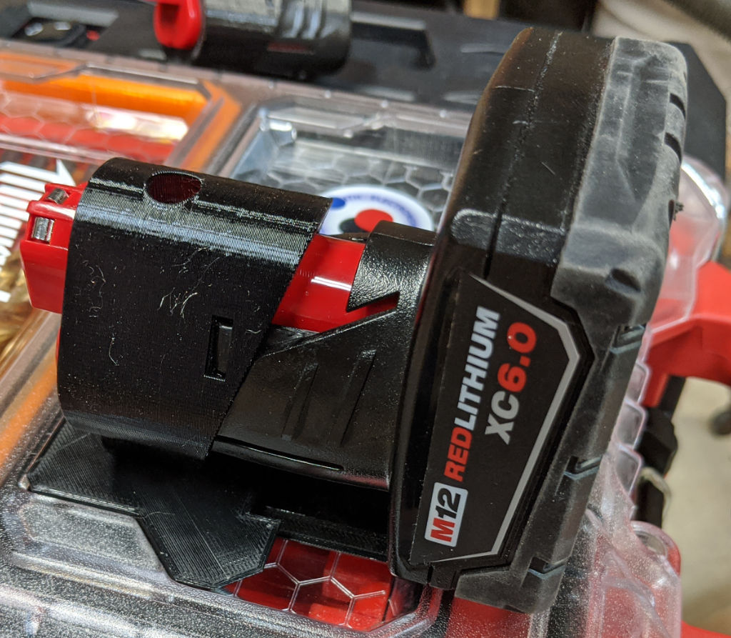 XC6 M12 Battery in Holder