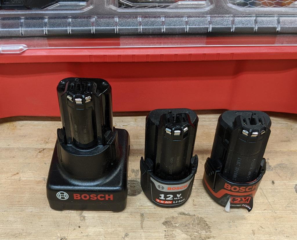 Bosch 12V Batteries -- Three Different Ones