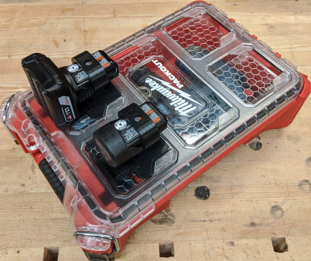 Bosch Packout Case Closed with Locking Battery Holders